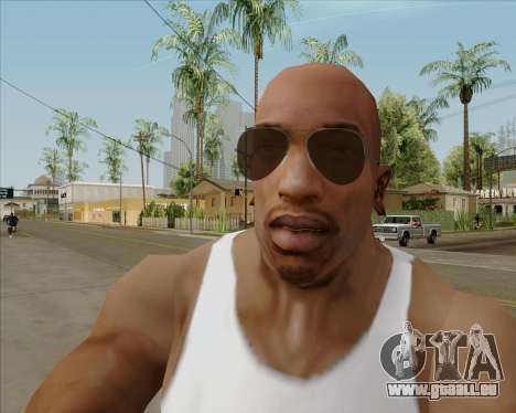 Braun brille Flieger für GTA San Andreas
