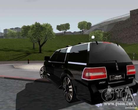 Lincoln Navigator pour GTA San Andreas laissé vue