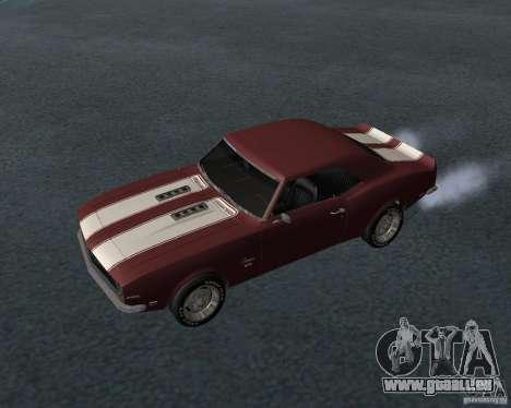 Chevrolet Camaro SS pour GTA San Andreas vue de dessous