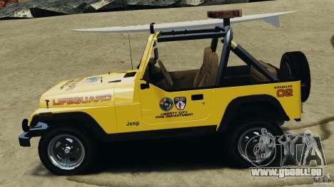 Jeep Wrangler 1988 Beach Patrol v1.1 [ELS] pour GTA 4 est une gauche