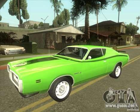 1971 Dodge Charger Super Bee pour GTA San Andreas vue arrière