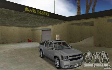 Chevrolet Avalanche 2007 für GTA Vice City Rückansicht