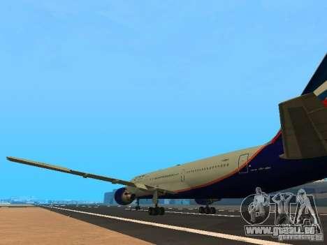 Boeing 767-300 Aeroflot pour GTA San Andreas sur la vue arrière gauche