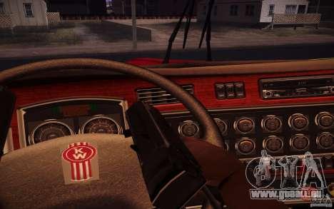 Kenworth T600 für GTA San Andreas Unteransicht