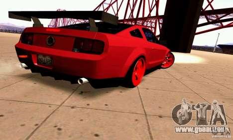 Shelby GT500 KR pour GTA San Andreas vue de droite