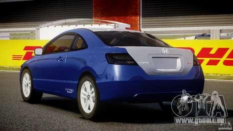 Honda Civic Si Coupe 2006 v1.0 pour GTA 4 Vue arrière de la gauche