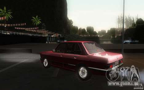BMW E28 525e ShadowLine Stock für GTA San Andreas zurück linke Ansicht