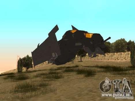 Vtol Crysis pour GTA San Andreas laissé vue