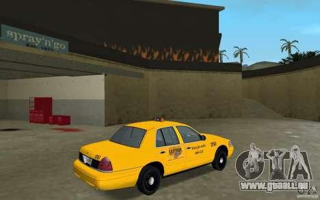 Ford Crown Victoria Taxi für GTA Vice City rechten Ansicht