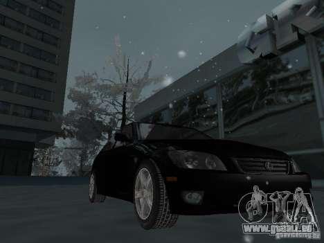 Lexus IS300 pour GTA San Andreas vue de dessus