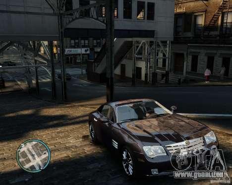 2007 Chrysler Crossfire pour GTA 4 est une vue de l'intérieur