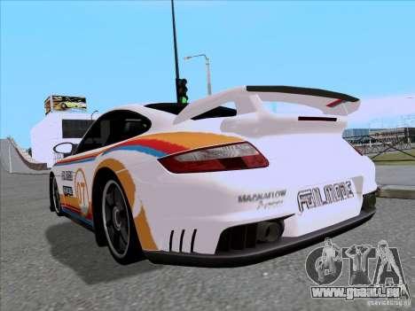 Porsche 997 GT2 Fullmode pour GTA San Andreas sur la vue arrière gauche
