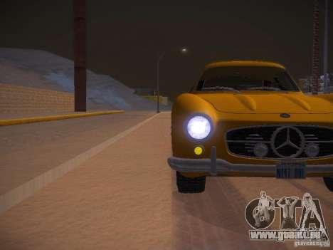 Mercedes-Benz 300SL pour GTA San Andreas vue de dessus