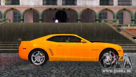Chevrolet Camaro SS 2010 pour une vue GTA Vice City de la droite