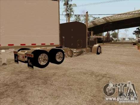 Peterbilt 379 Custom pour GTA San Andreas sur la vue arrière gauche