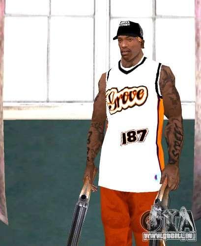 Bandes de remplacement, tatouages, vêtements, et pour GTA San Andreas septième écran