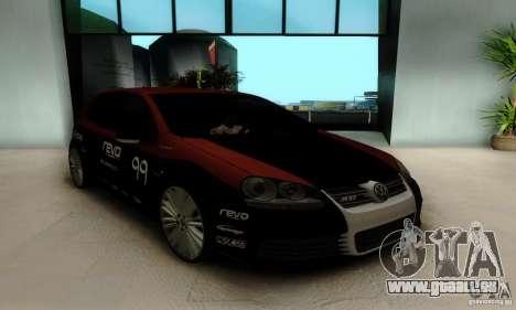 Volkswagen Golf R32 pour GTA San Andreas vue intérieure