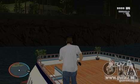 Korteza yacht de Vice City pour GTA San Andreas vue de droite