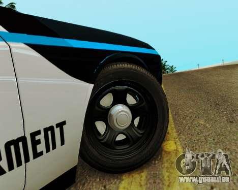 Dodge Challenger SRT8 2010 Police pour GTA San Andreas vue arrière