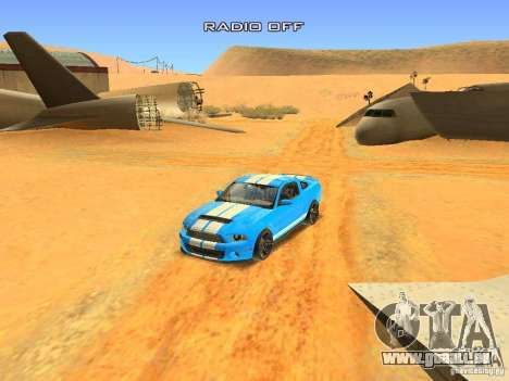 Ford Shelby GT500 für GTA San Andreas obere Ansicht