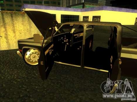 Chevrolet Silverado Towtruck für GTA San Andreas Innenansicht