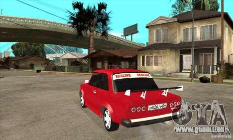 Coupé de 2 portes VAZ 2101 pour GTA San Andreas sur la vue arrière gauche