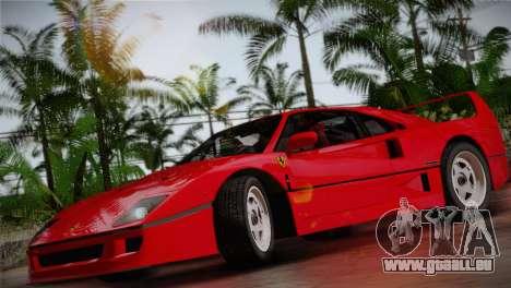 Ferrari F40 1987 pour GTA San Andreas vue arrière