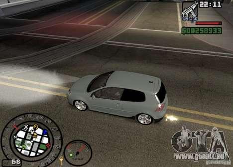 Le feu de la v2.0 de gaz d'échappement pour GTA San Andreas cinquième écran