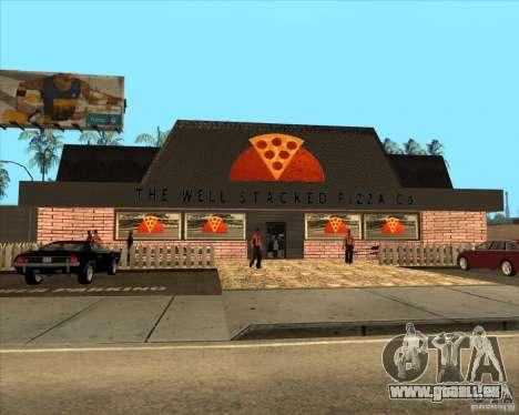 Nouvelle pizzeria dans IdelWood pour GTA San Andreas