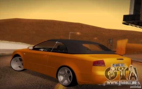 Audi A4 Cabrio pour GTA San Andreas vue de droite