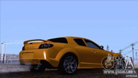 Mazda RX8 R3 2011 pour GTA San Andreas laissé vue