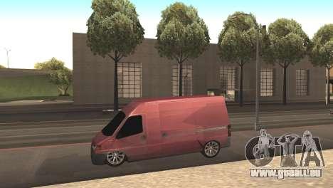 Peugeot Boxer für GTA San Andreas linke Ansicht