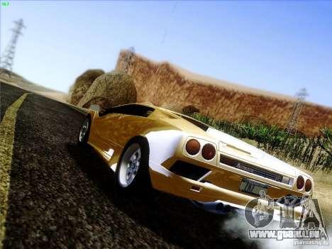 Lamborghini Diablo VT 1995 V3.0 für GTA San Andreas zurück linke Ansicht