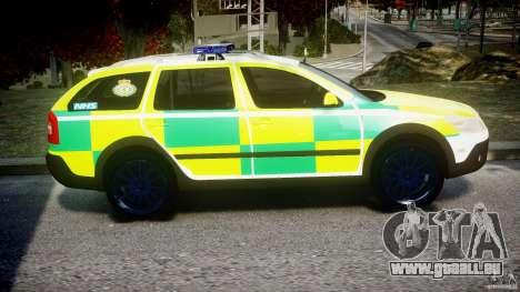 Skoda Octavia Scout Paramedic [ELS] pour GTA 4 Vue arrière
