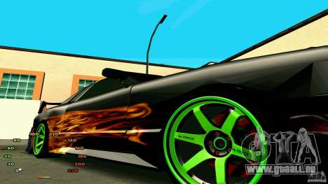 Elégie de fen1x pour GTA San Andreas sur la vue arrière gauche