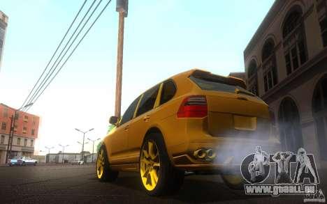 Porsche Cayenne gold pour GTA San Andreas laissé vue