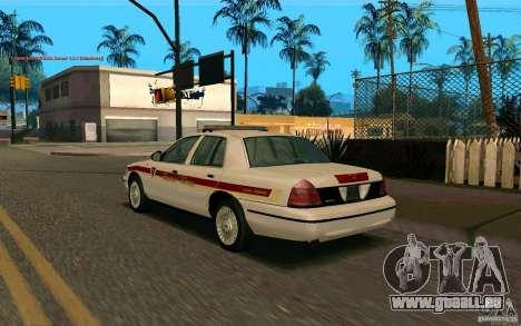 Ford Crown Victoria South Dakota Police pour GTA San Andreas laissé vue