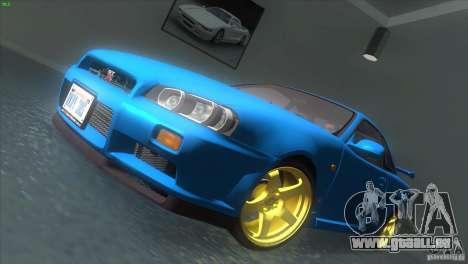 Nissan Skyline GTR-34 für GTA San Andreas