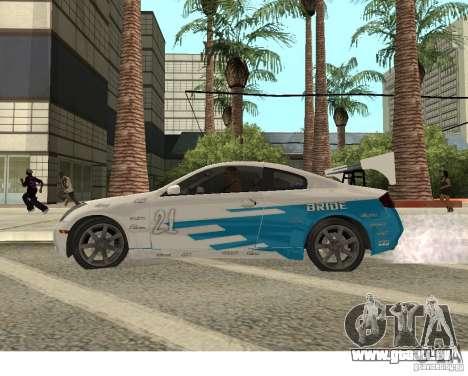 Infiniti G35 Coupe pour GTA San Andreas vue arrière