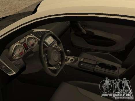 Audi R8 für GTA San Andreas Rückansicht