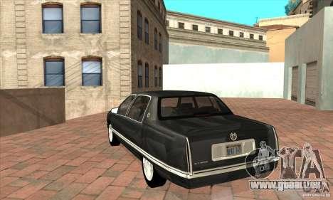 Cadillac Deville v2.0 1994 pour GTA San Andreas sur la vue arrière gauche