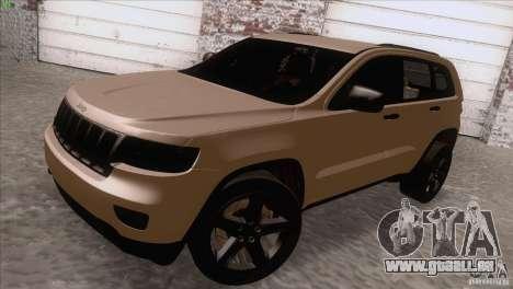 Jeep Grand Cherokee 2012 für GTA San Andreas zurück linke Ansicht