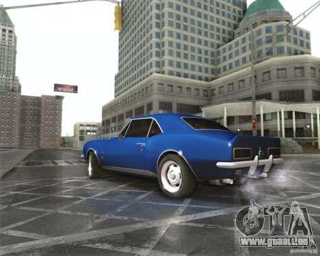Chevrolet Camaro 1969 pour GTA San Andreas laissé vue