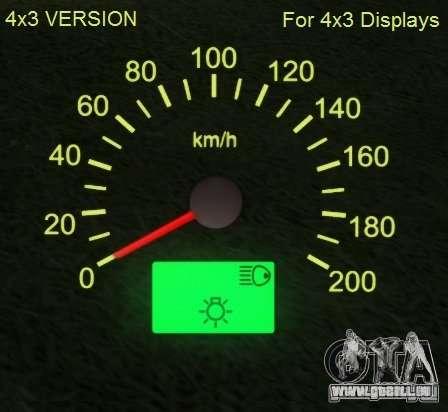 Indicateur de vitesse de Lada 2110 pour GTA San Andreas