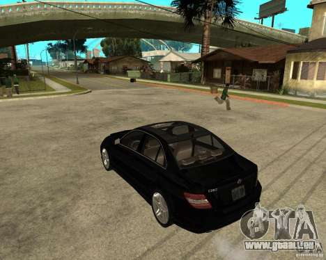Mercedes Benz C350 W204 Avantgarde pour GTA San Andreas laissé vue