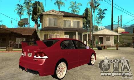 Honda Civic Mugen RR pour GTA San Andreas vue de droite