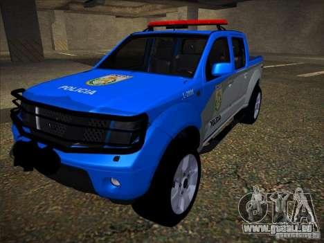Nissan Frontier PMERJ pour GTA San Andreas vue intérieure