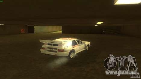 Citroen BX 4TC pour GTA San Andreas sur la vue arrière gauche