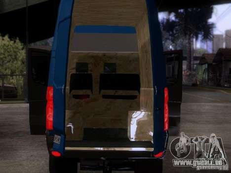 Volkswagen Crafter XL pour GTA San Andreas vue intérieure