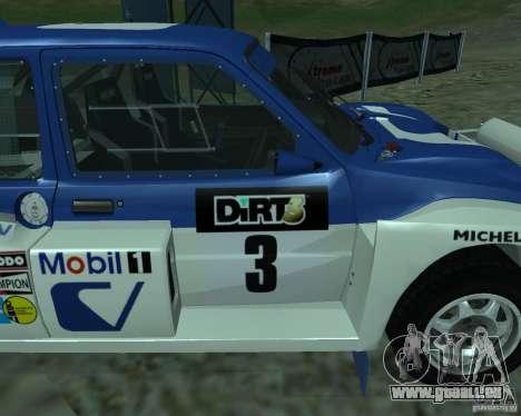 MG Metro 6M4 Group B pour GTA San Andreas vue de droite